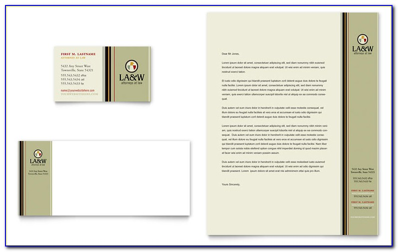Law Firm Letterhead Template Word