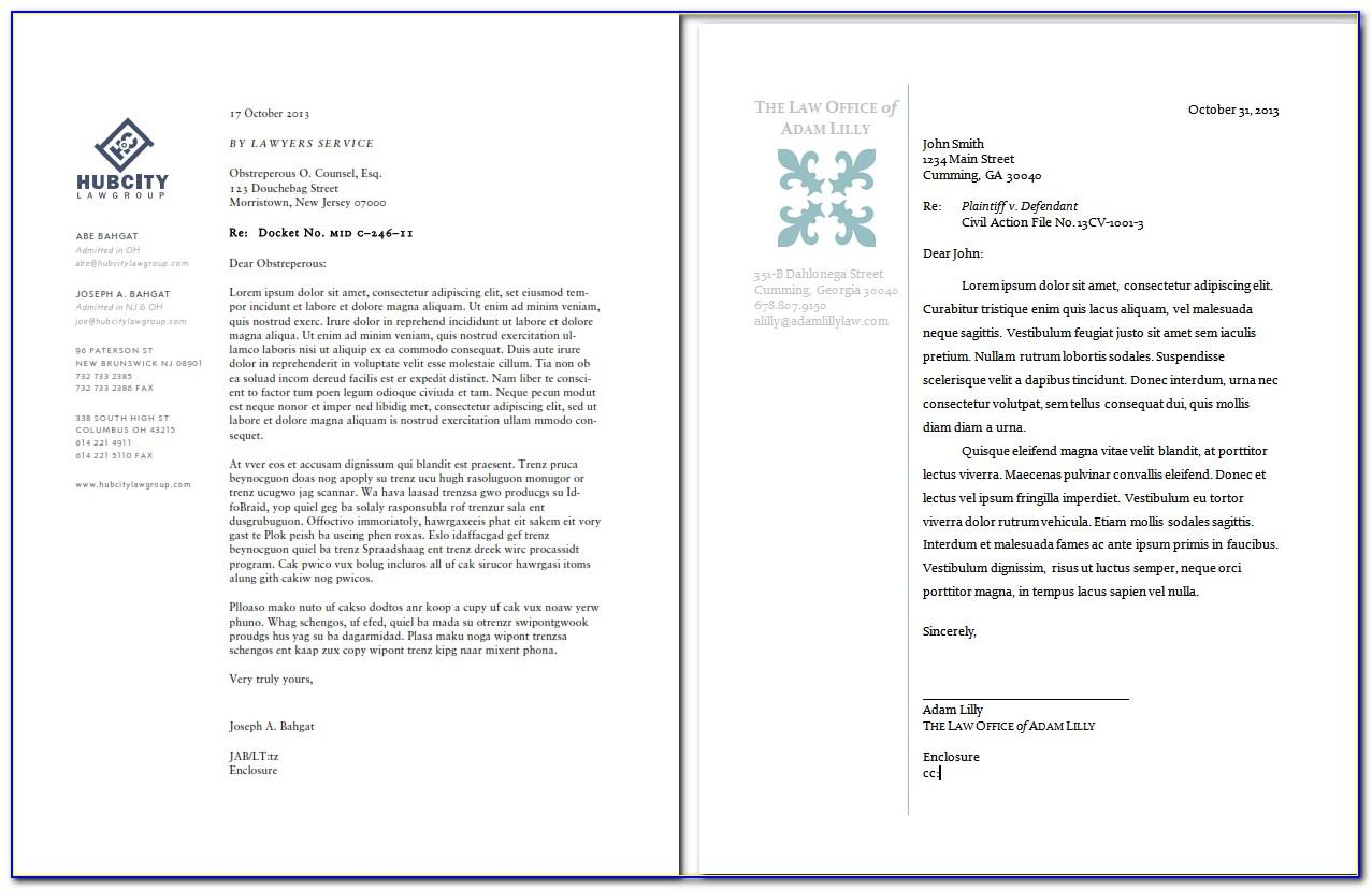 Law Firm Letterhead Templates Free
