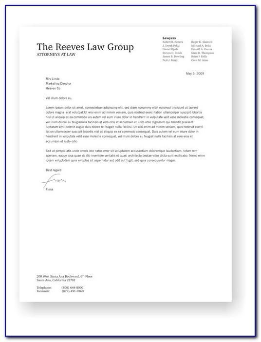 Law Office Letterhead Examples
