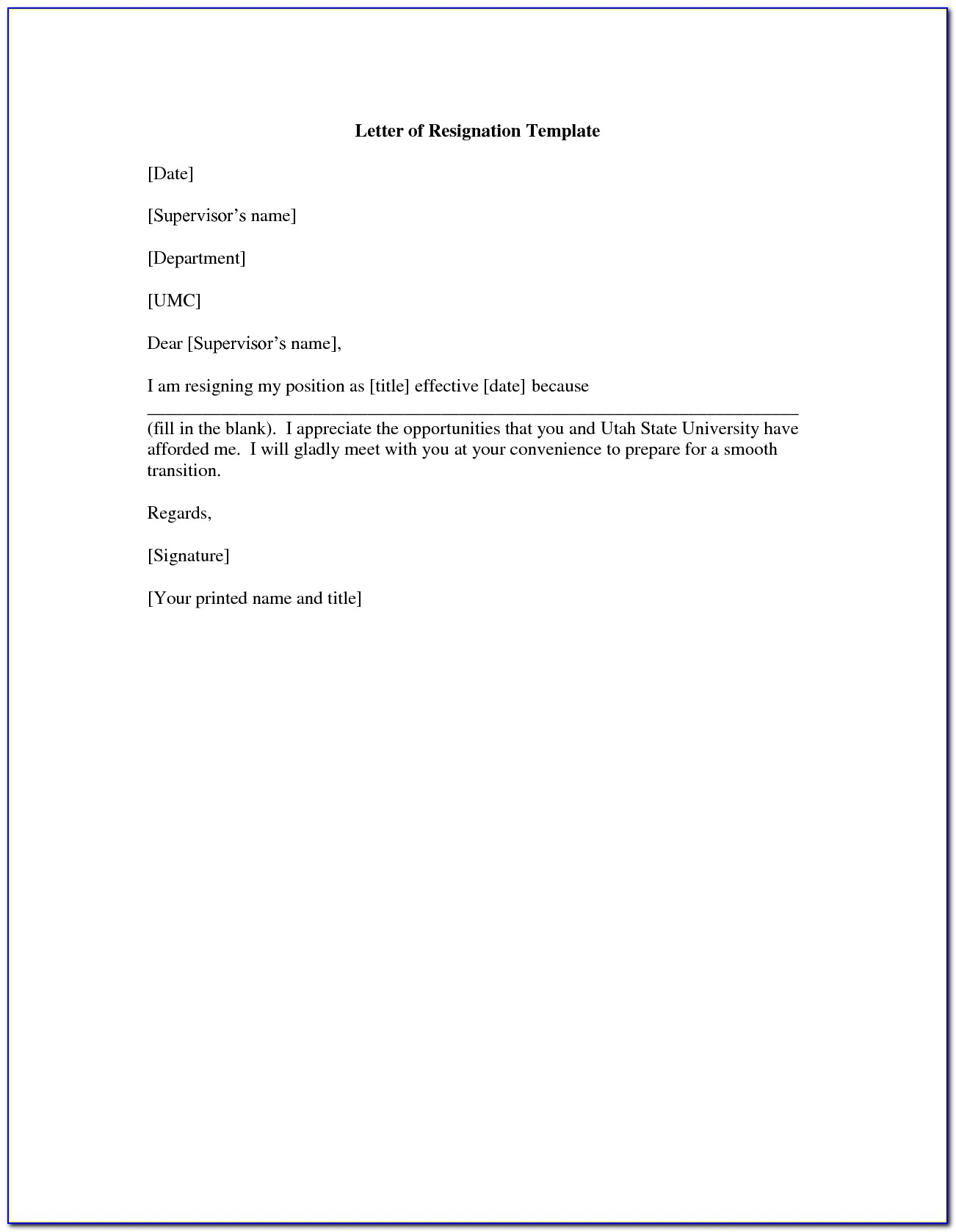 Law School Letter Of Recommendation Template From Employer