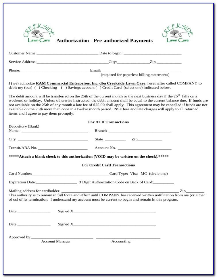 Lawn Care Contract Forms
