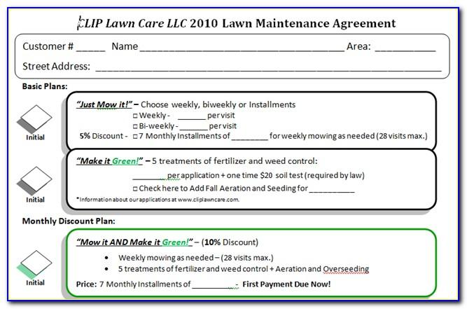 Lawn Care Estimate Template