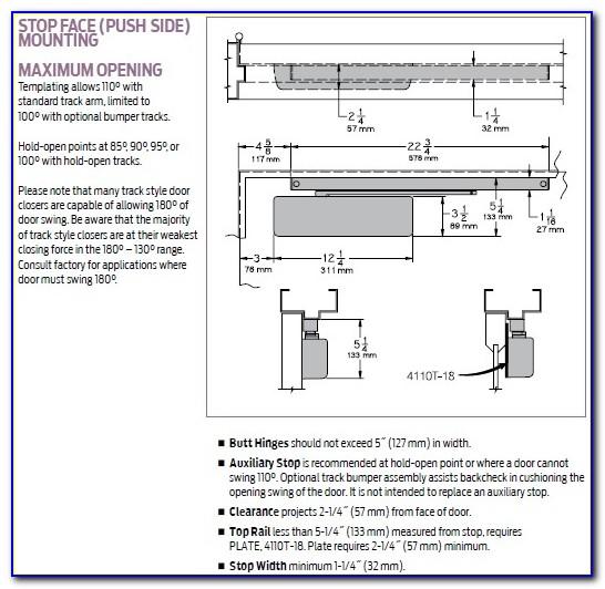 Lcn 4011 Closer Installation Instructions