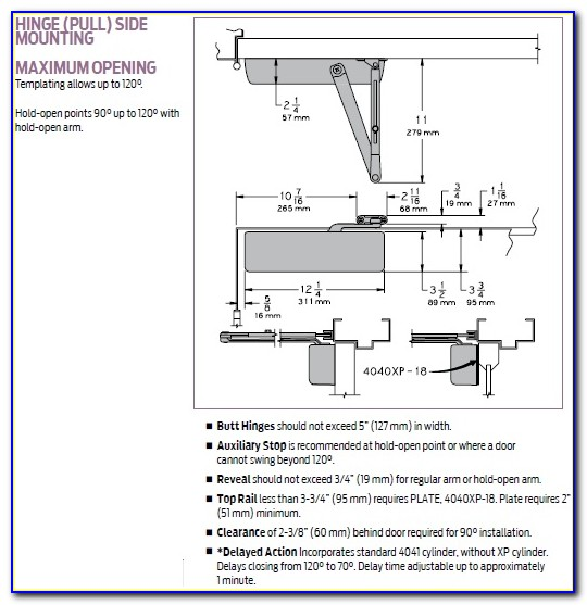 Lcn 4011 Door Closer Template