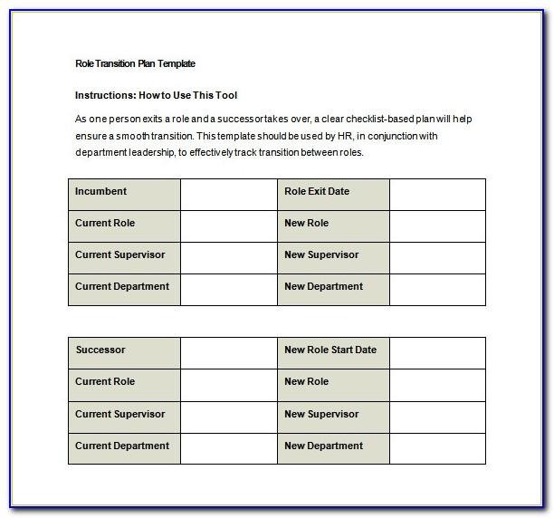Leadership Transition Plan Example