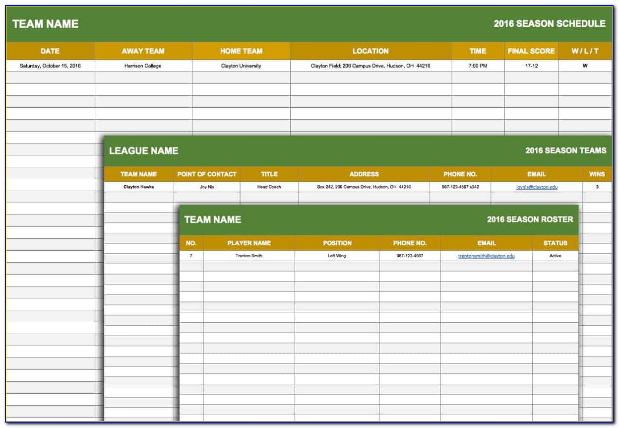 League Table Excel Template Download