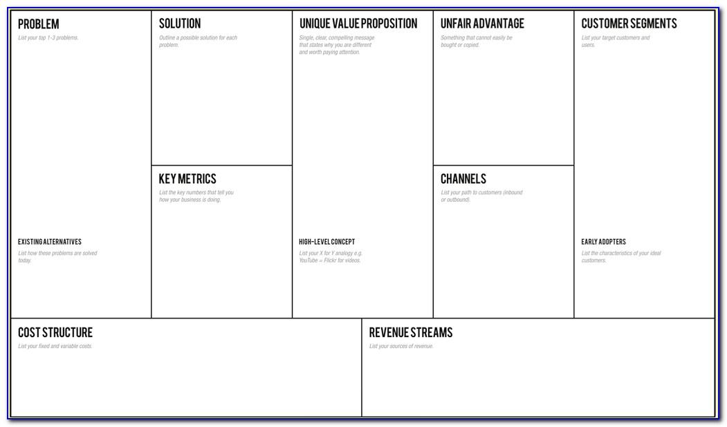 Lean Startup Business Plan Sample