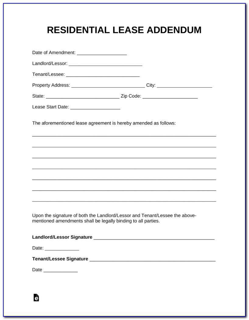 Lease Addendum Template Free