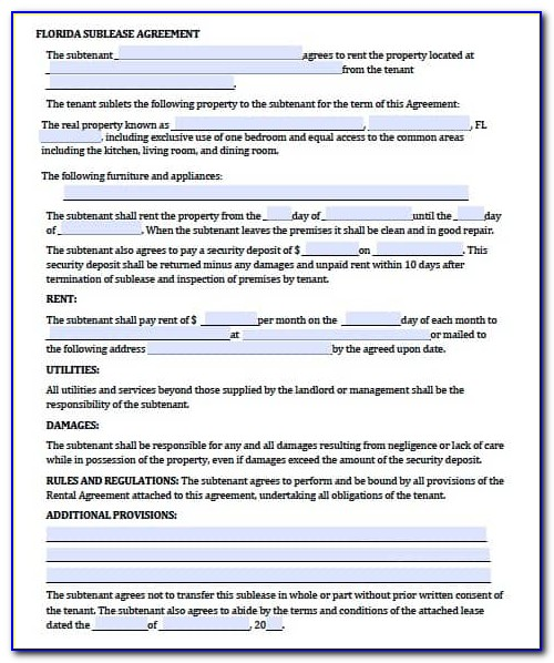 Lease Agreement Extension Template