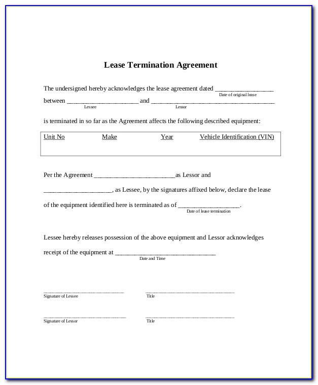Lease Agreement Template Microsoft Word
