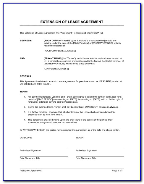 Lease Agreement Template Word California