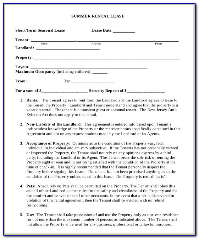 Lease Agreement Word Doc South Africa