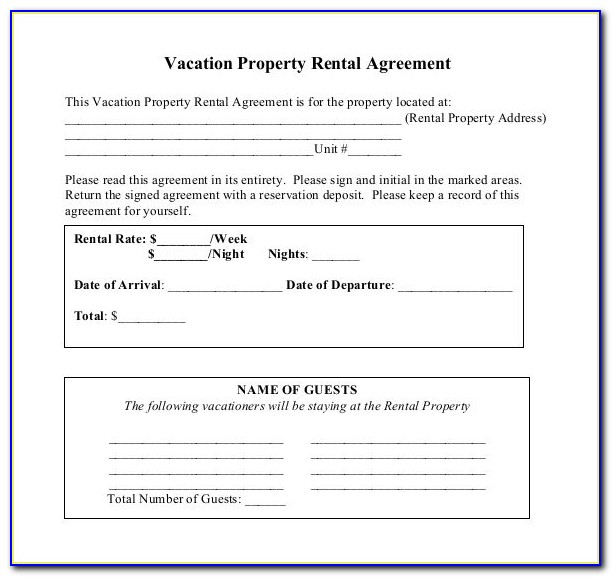 Lease Contract Template South Africa