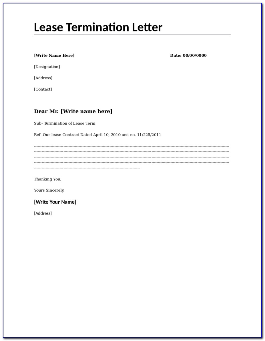 Lease Template Free Download