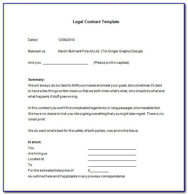 Legal Binding Contract Examples