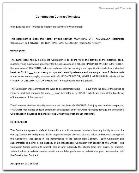 Legal Binding Contract Template Free