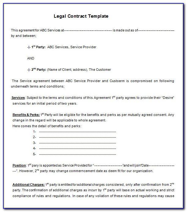 Legal Complaint Form Template