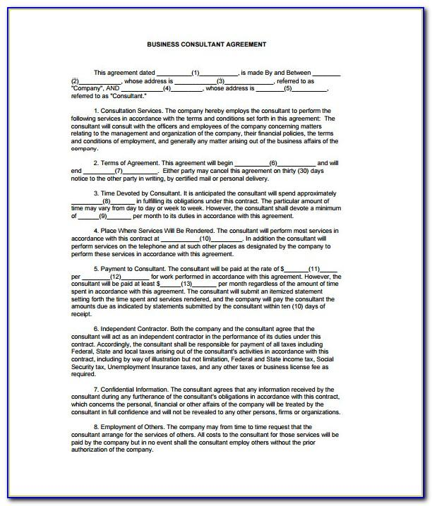 Legal Contract Templates Business