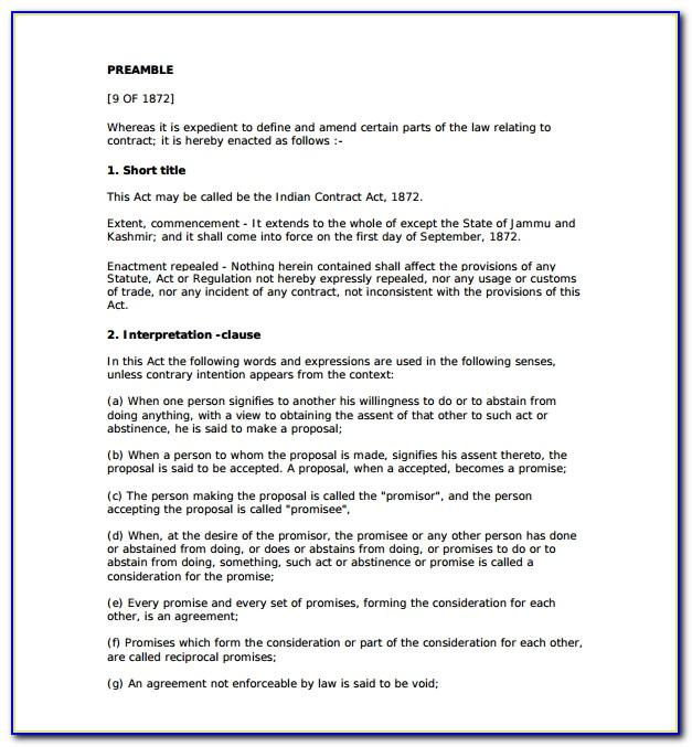 Legal Contract Templates Word