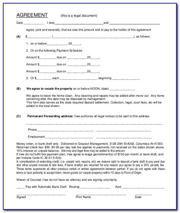 Legal Forms Promissory Note Template
