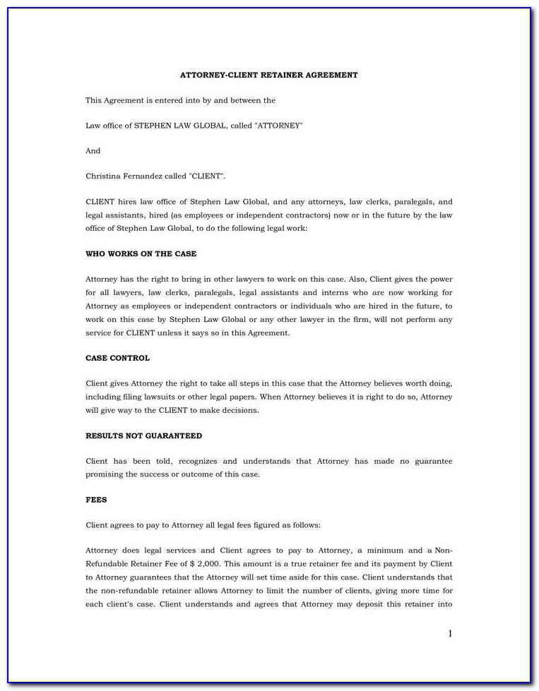 Legal Retainer Agreement Sample Philippines