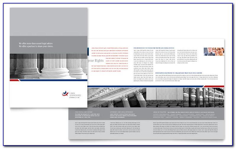 Legal Size Paper Brochure Template