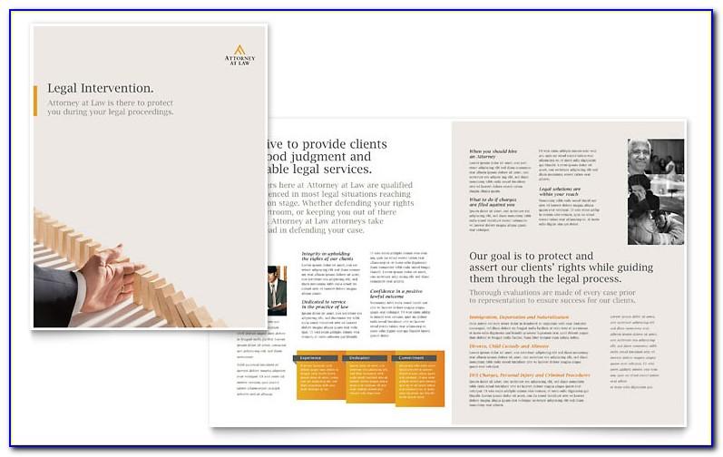 Legal Size Tri Fold Brochure Template