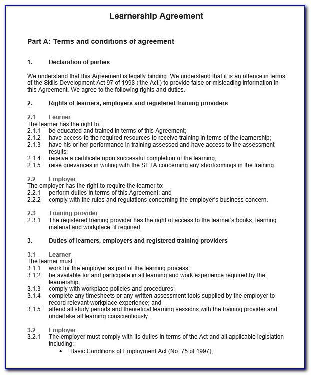 Legally Binding Agreement Sample