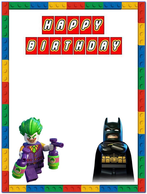 Lego Batman Cake Template