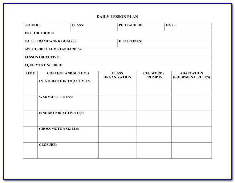 Lesson Plan Examples For High School English Pdf
