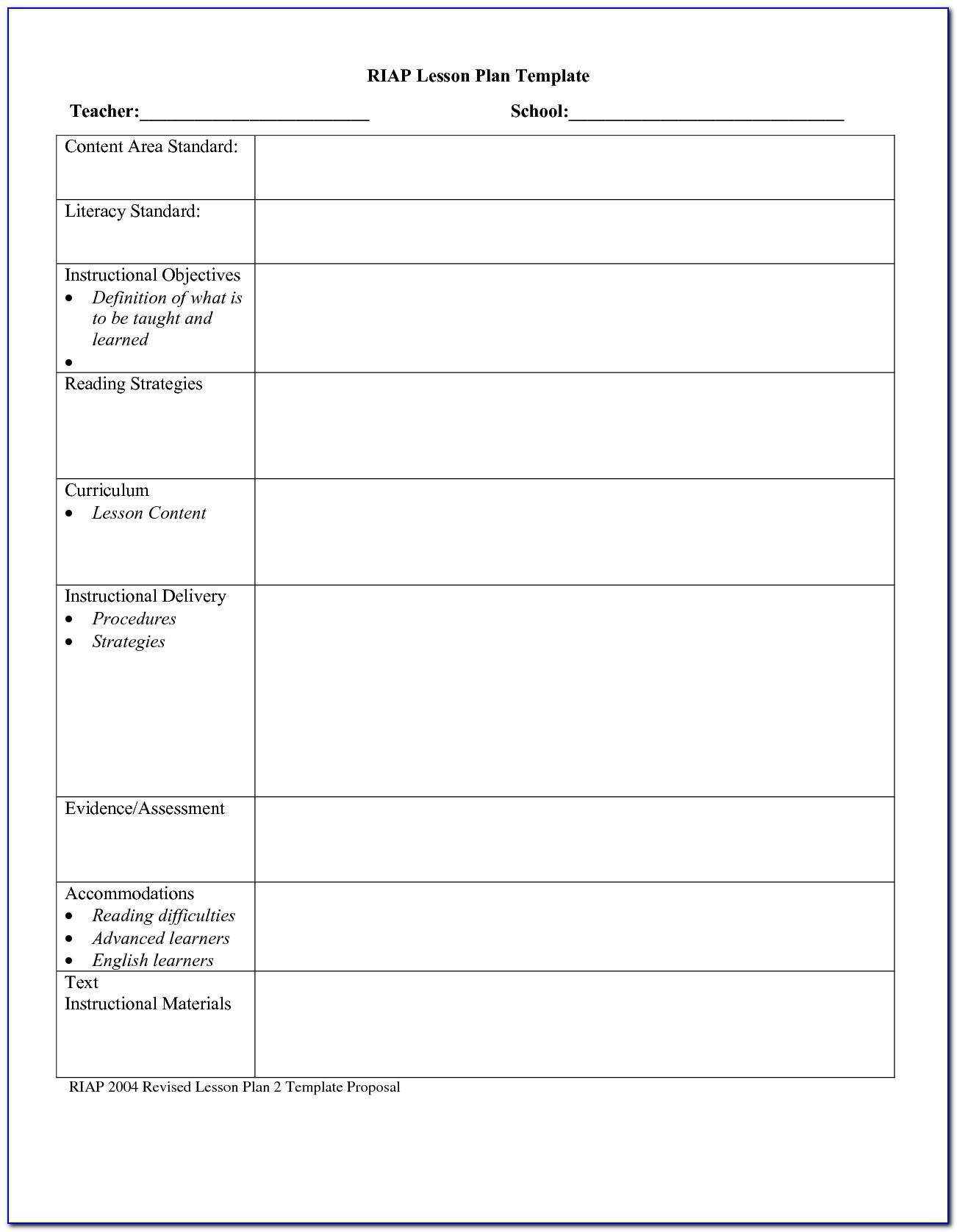 Lesson Plan Examples For High School English
