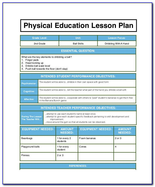 Lesson Plan Format For High School English