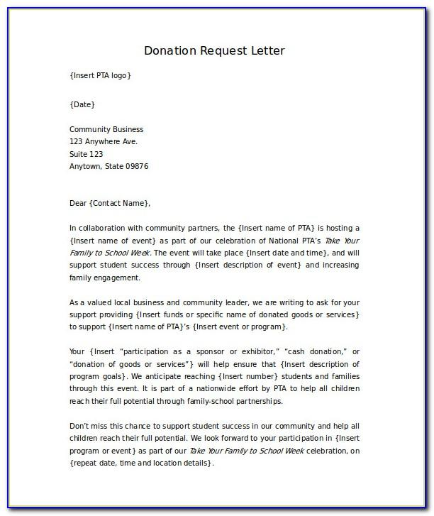 Letter Asking For Donations For Funeral Template