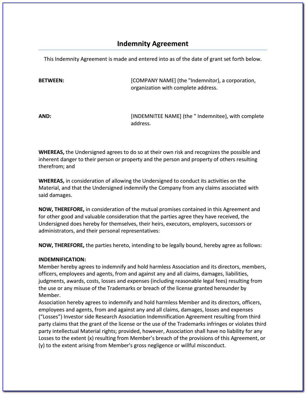 Letter Of Indemnification Sample