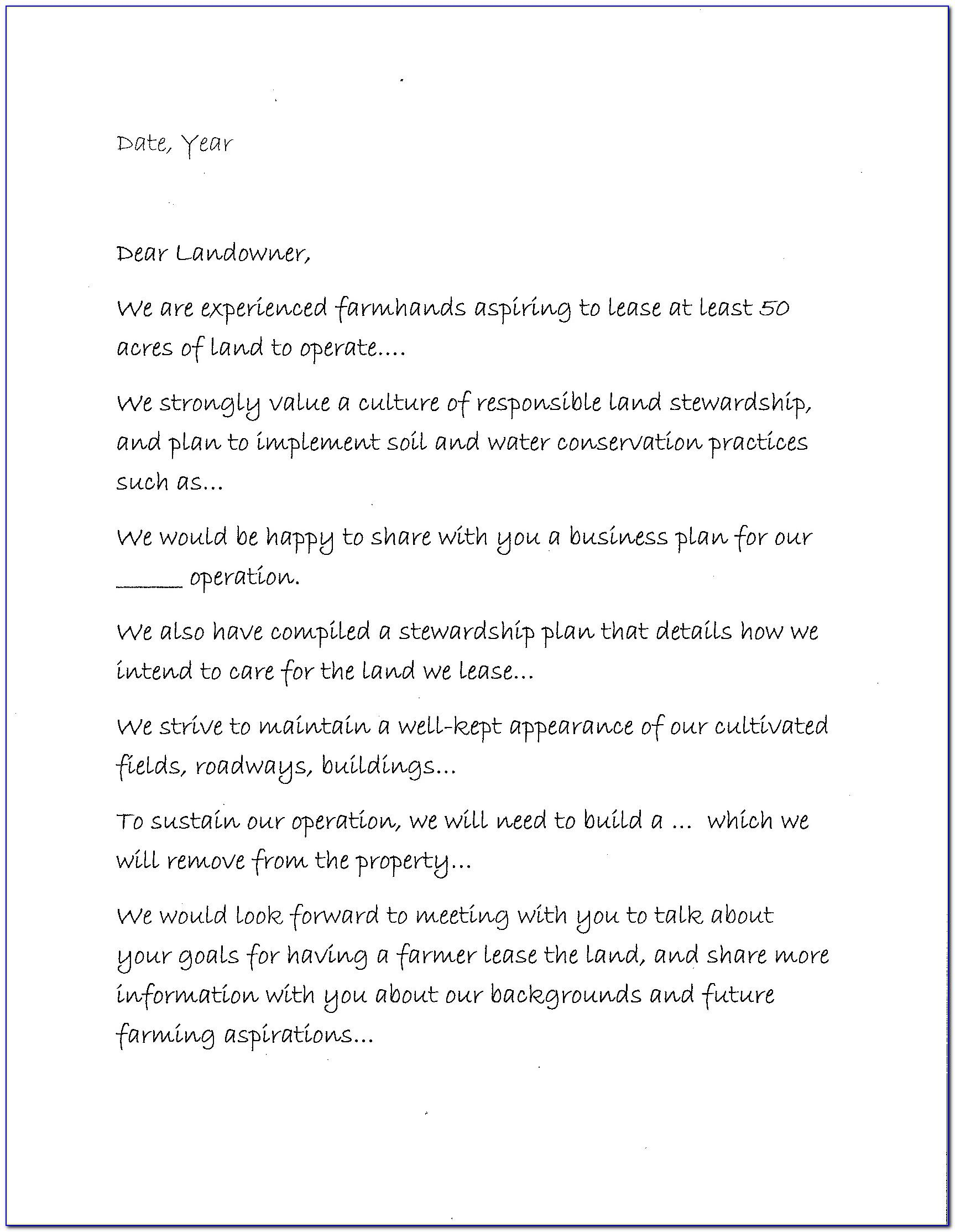 Letter Of Intent Commercial Lease Example