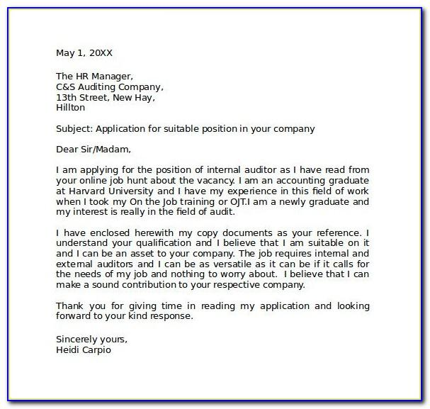Letter Of Intent Template Job Offer