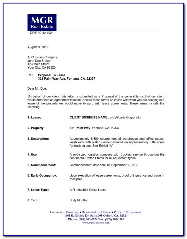 Letter Of Intent Template Microsoft Word