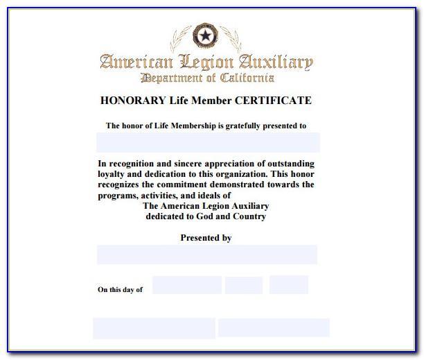 Life Membership Certificate Template Free