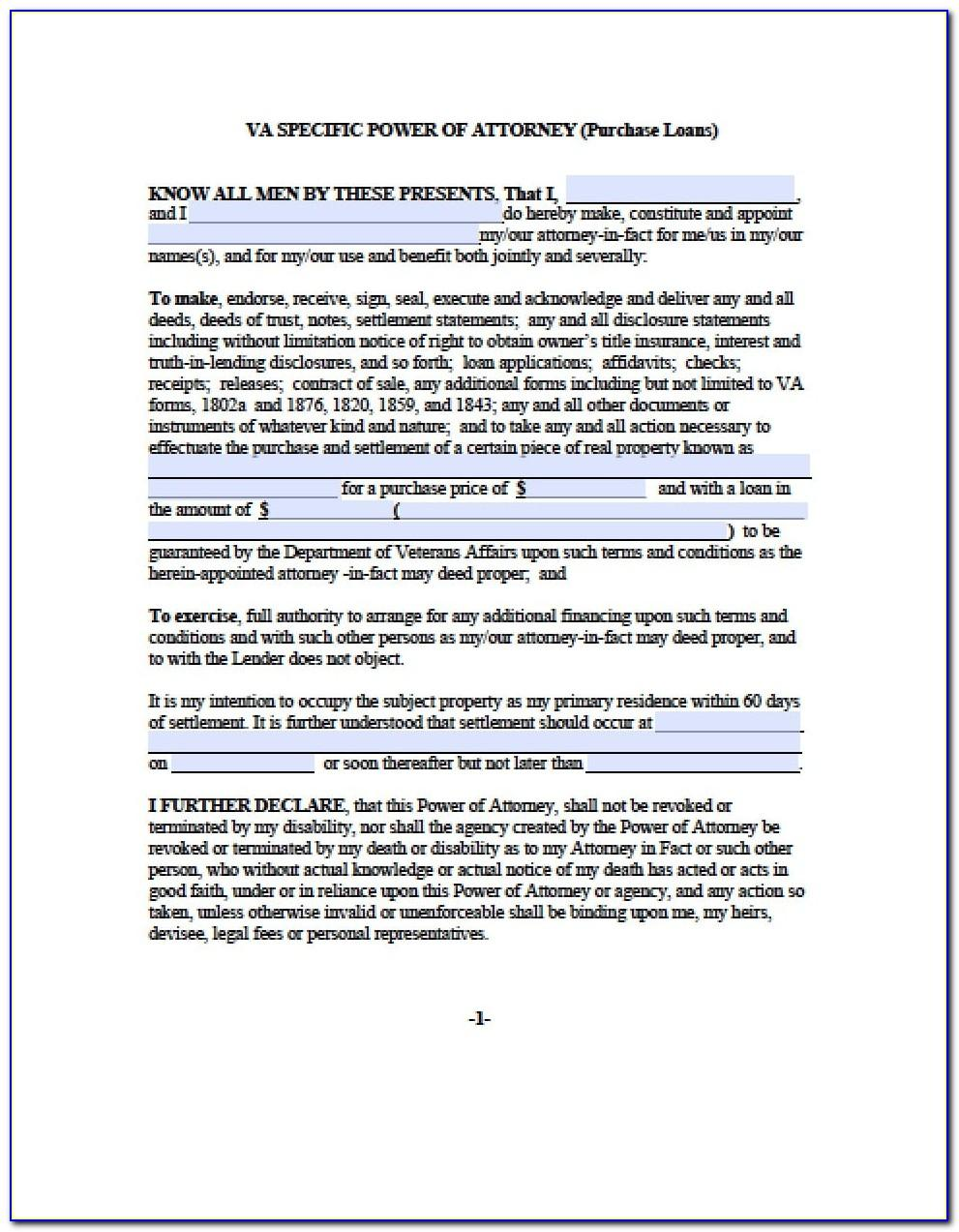 Limited Power Of Attorney Form Indiana