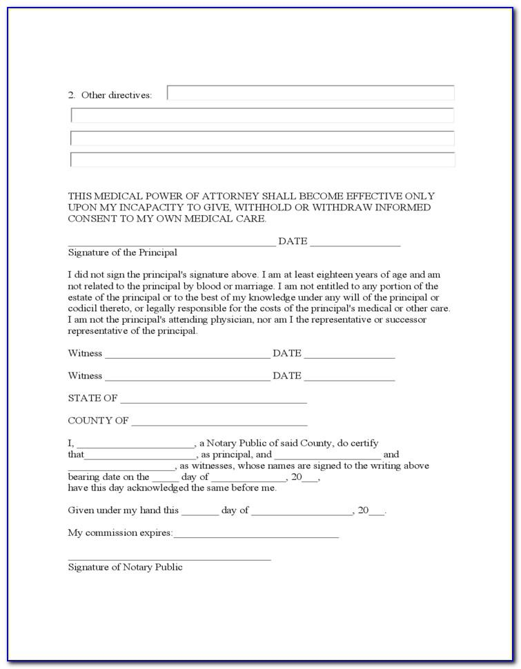 Limited Power Of Attorney Form Template