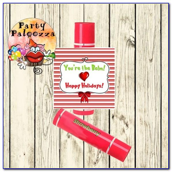 Lip Balm Tin Label Template