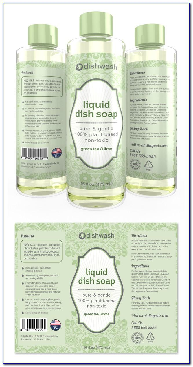 Liquid Hand Soap Label Template