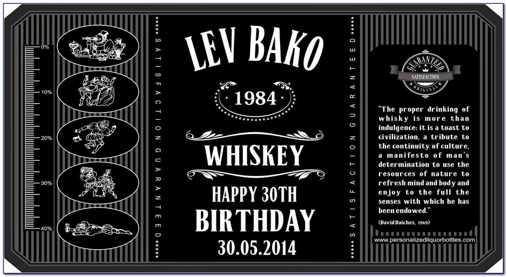 Liquor Bottle Label Templates Free