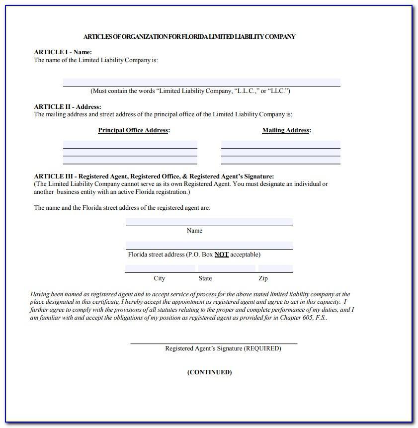 Llc Articles Of Organization Form Virginia