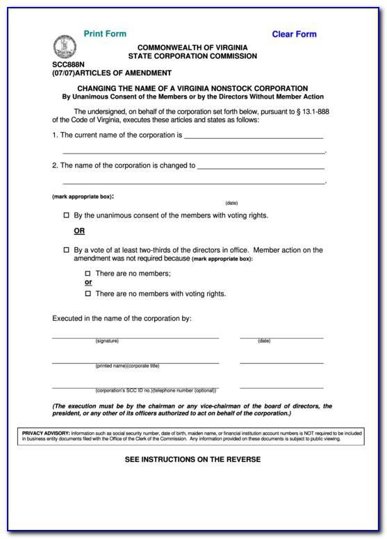 Llc Articles Of Organization Virginia Template