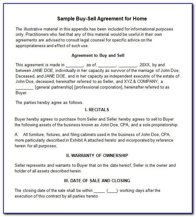 Llc Member Buyout Agreement Template