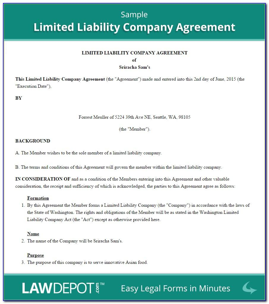 Llc Operating Agreement Template California
