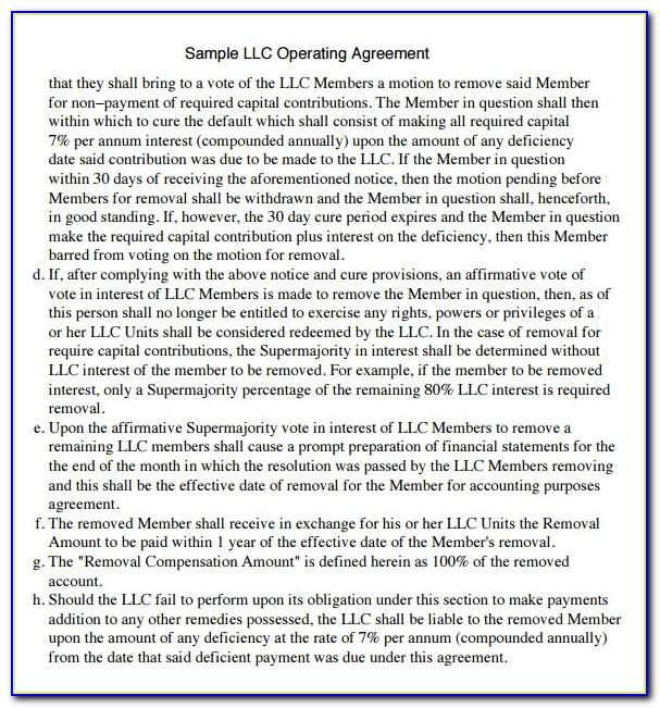 Llc Operating Agreement Template Download Free
