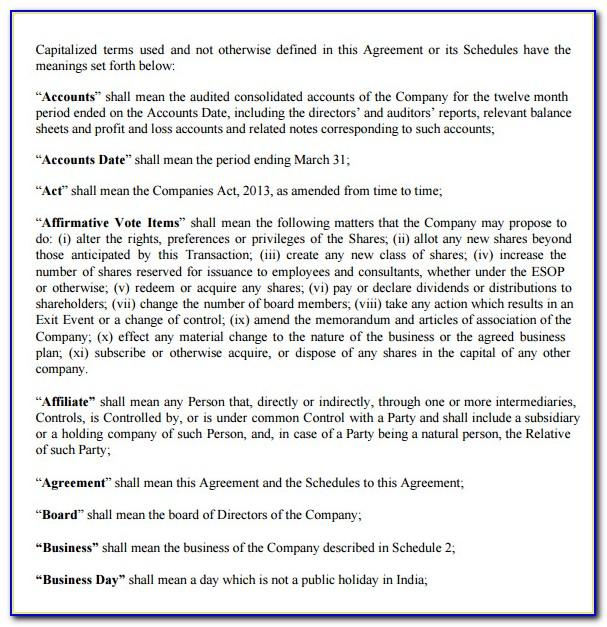Llc Share Purchase Agreement Template