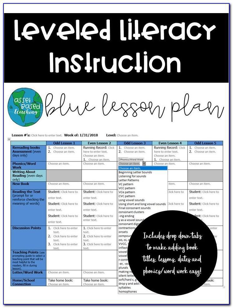 Lli Lesson Plan Template Green